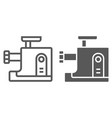 meat grinder line and glyph icon kitchen vector image vector image