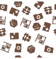 Medical Warehouse Seamless Seamless Flat vector image