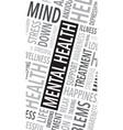 mental health words background vector image