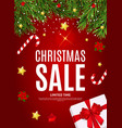 merry christmas and new year sale backgroun vector image vector image