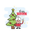 merry christmas decoration to event celebration vector image vector image