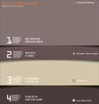 Modern brown design layout vector image vector image