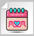 mothers day icons 10 vector image vector image