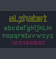 neon font and alphabet vector image