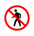 no entry sign authorised persons only vector image