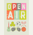 open air sport music vintage grunge poster vector image