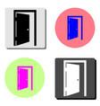 open door flat icon vector image vector image