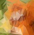 orange green abstract polygon triangular pattern vector image vector image