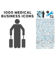Passenger Baggage Icon with 1000 Medical Business vector image vector image