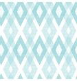 Pastel blue fabric ikat diamond seamless pattern vector image vector image