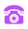 Phone symbol icon on white vector image