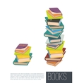 pile different books isolated vector image