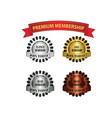 premium membership badges vector image vector image