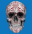 realistic day dead sugar skull vector image vector image