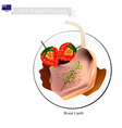 Roasted Lamb Legs The Popular Dish of New Zealand vector image vector image