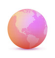 rose globe vector image