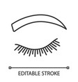 rounded eyebrow shape linear icon vector image vector image