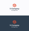 S Company logo 03 vector image vector image