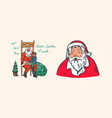 santa claus bearded grandfather with a child vector image vector image