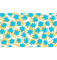 seamless floral background drawn by hand vector image