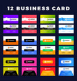 set modern creative business cards vector image vector image