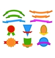 Set of colored stickers and ribbons for website vector image vector image