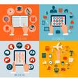 Set of flat design backgrounds for education vector image