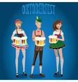 Set people at Oktoberfest vector image vector image