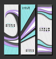 set vertical futuristic banners vector image vector image