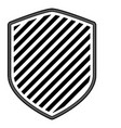 shield with striped in monochrome silhouette vector image vector image