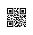 simple qr code icon vector image