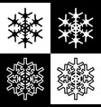 snowflake symbols icons simple black white set 6 vector image vector image