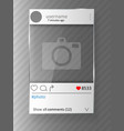 social network post and photo frame glass design vector image