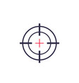 target aim crosshair icon vector image vector image