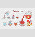 tea constructor fruits brew process make vector image vector image
