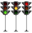 three traffic lights vector image vector image