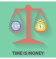 Time is money flat design concept vector image