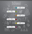 Timeline idea generation concept background vector image vector image