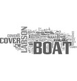 why buy a larson boat cover text word cloud vector image vector image