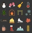 winter icon vector image vector image
