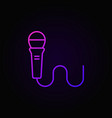 wired microphone colorful linear icon vector image