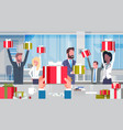 workers bonus concept cheerful business people vector image vector image
