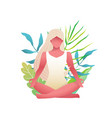 young beautiful blonde woman practice yoga lotus vector image vector image