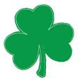 grunge clover leaf vector image