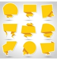 Abstract origami speech bubble background Eps 10 vector image