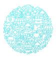 insurance line icon circle design vector image