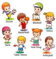 vocabulary sport character vector image