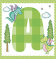 a alphabet letter for kids vector image vector image