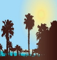 A hot sunny day at the tropical resort vector image vector image