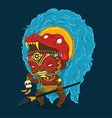 African Tribe Shaman Cartoon Character vector image